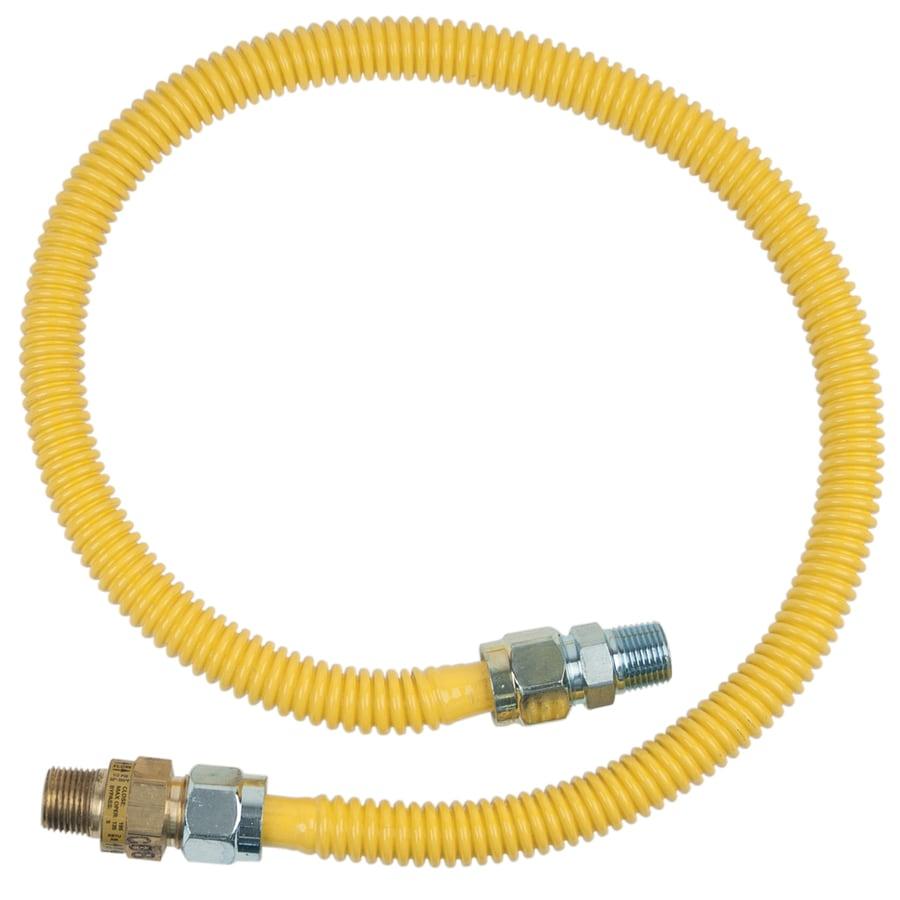 """BrassCraft 3//8/"""" Gas Connection Line 24/""""  1//2/""""MIP x 1//2/""""MIP"""