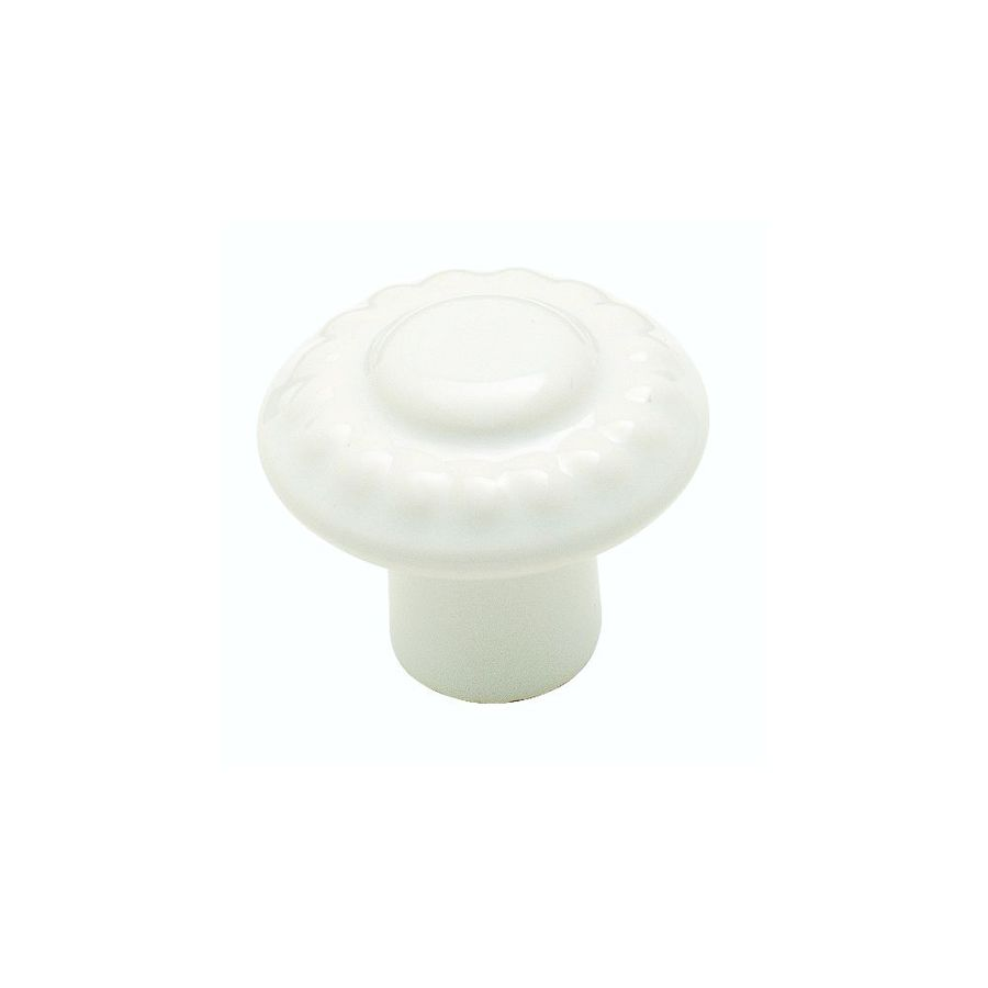Amerock Colour Washed Ceramics White Round Cabinet Knob