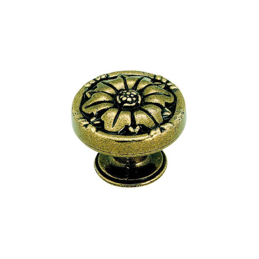 Amerock Natural Elegance Burnished Brass Round Cabinet Knob
