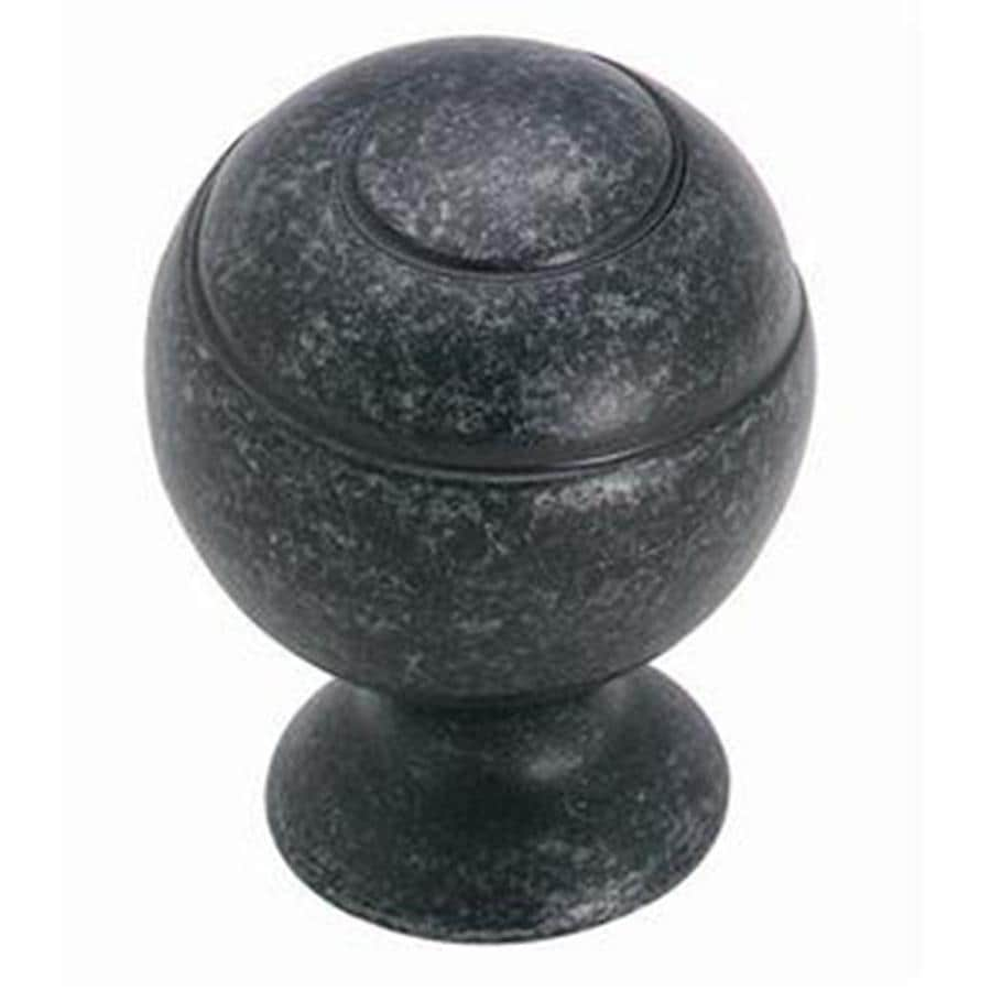 Shop Amerock Swirl'Z Wrought Iron Dark Globe Cabinet Knob