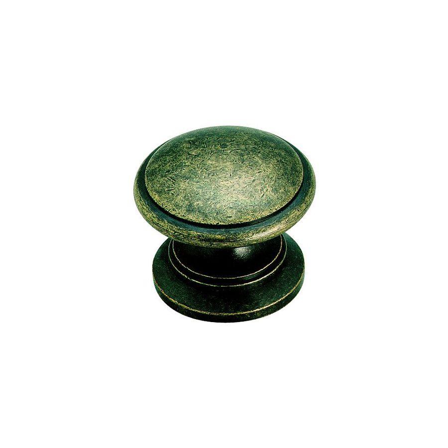 Amerock Hint Of Heritage Weathered Brass Round Cabinet Knob