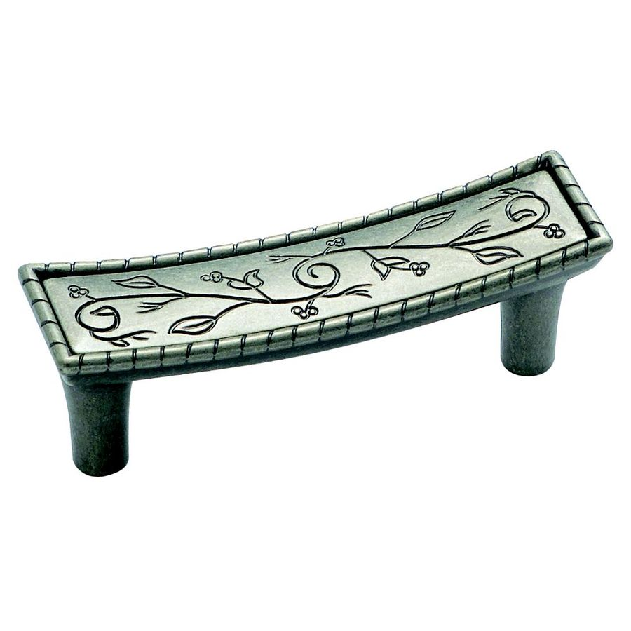 Amerock 3-in Center-To-Center Weathered Nickel Vineyard Bar Cabinet Pull