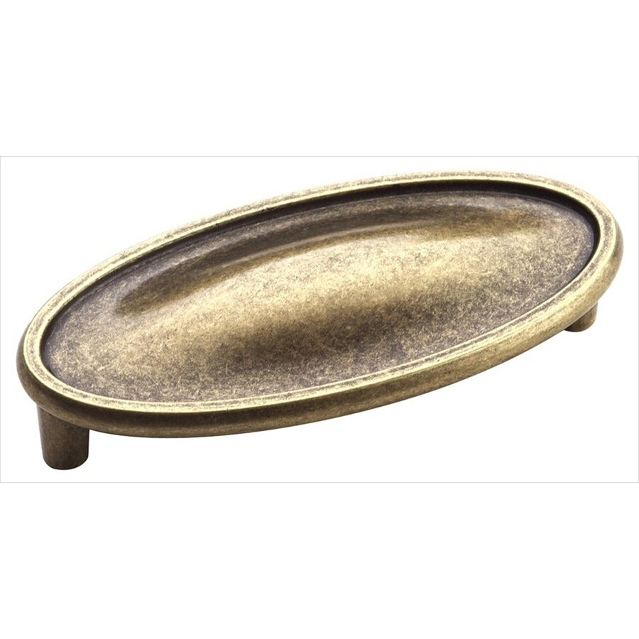 Amerock 3-in Center-To-Center Weathered Brass Manor Bar Cabinet Pull