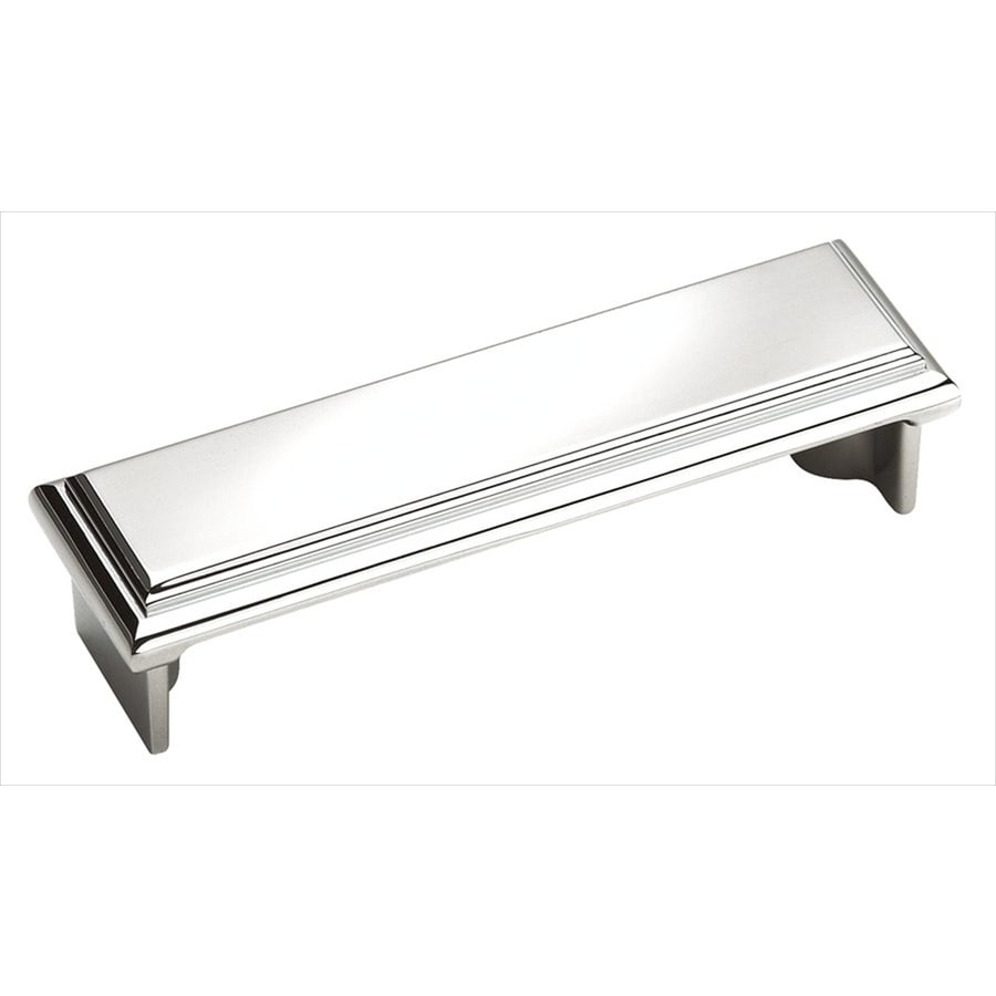 Amerock 3-in Center-to-Center Polished Chrome Manor Bar Cabinet Pull