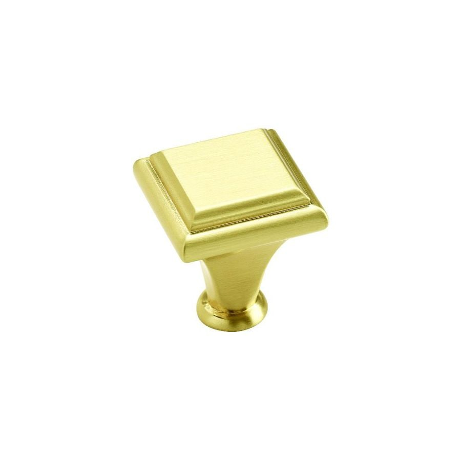Amerock Manor Aged Brass Square Cabinet Knob