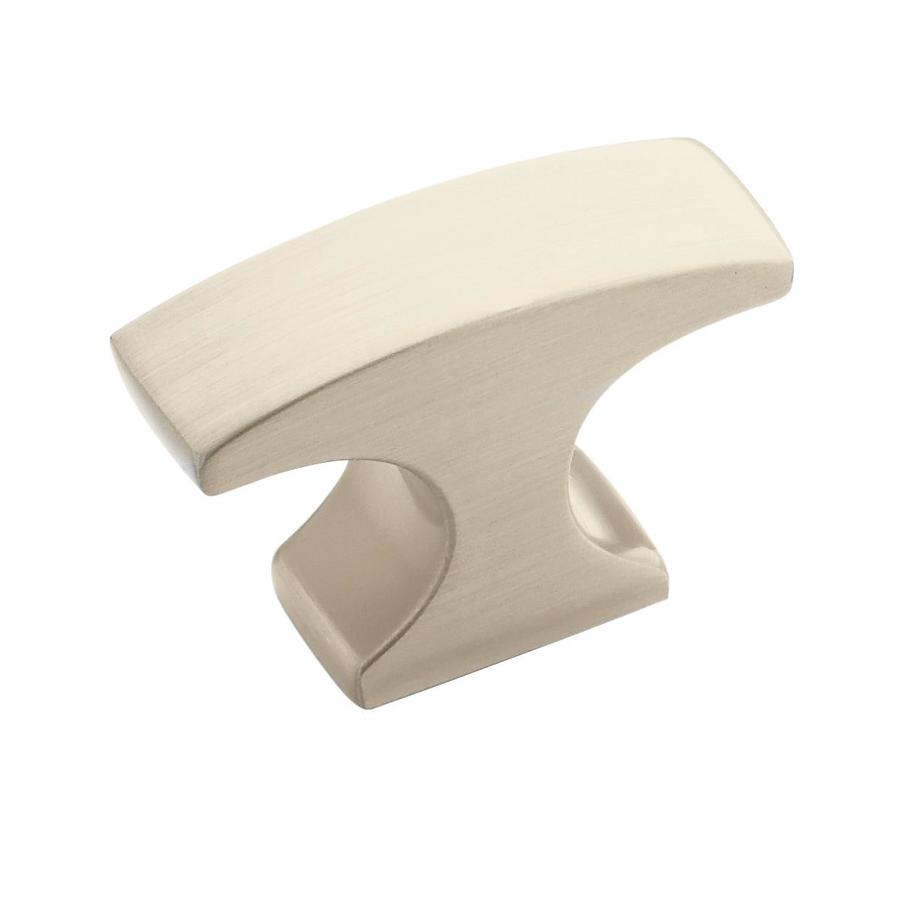 shop amerock conrad satin nickel rectangular cabinet knob