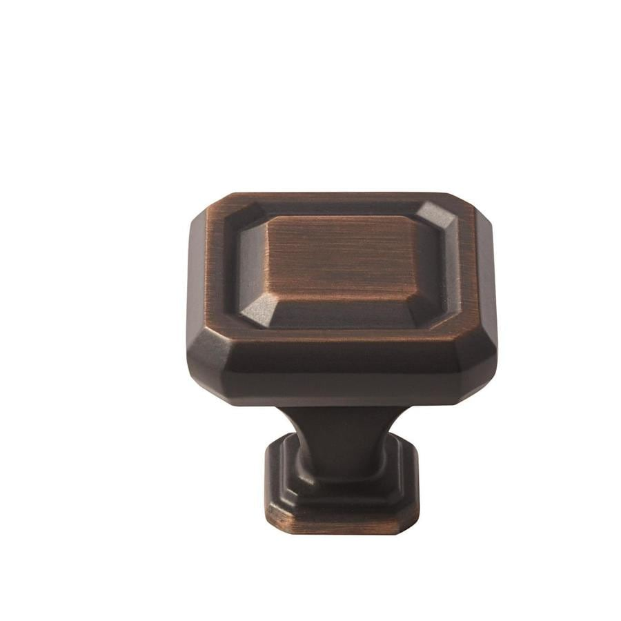 Amerock 25-Pack Wells Oil-Rubbed Bronze Square Cabinet Knobs