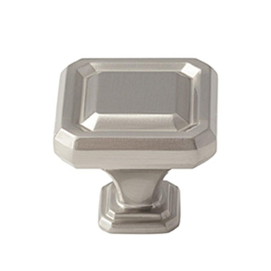 Amerock 25-Pack Wells Satin Nickel Square Cabinet Knobs
