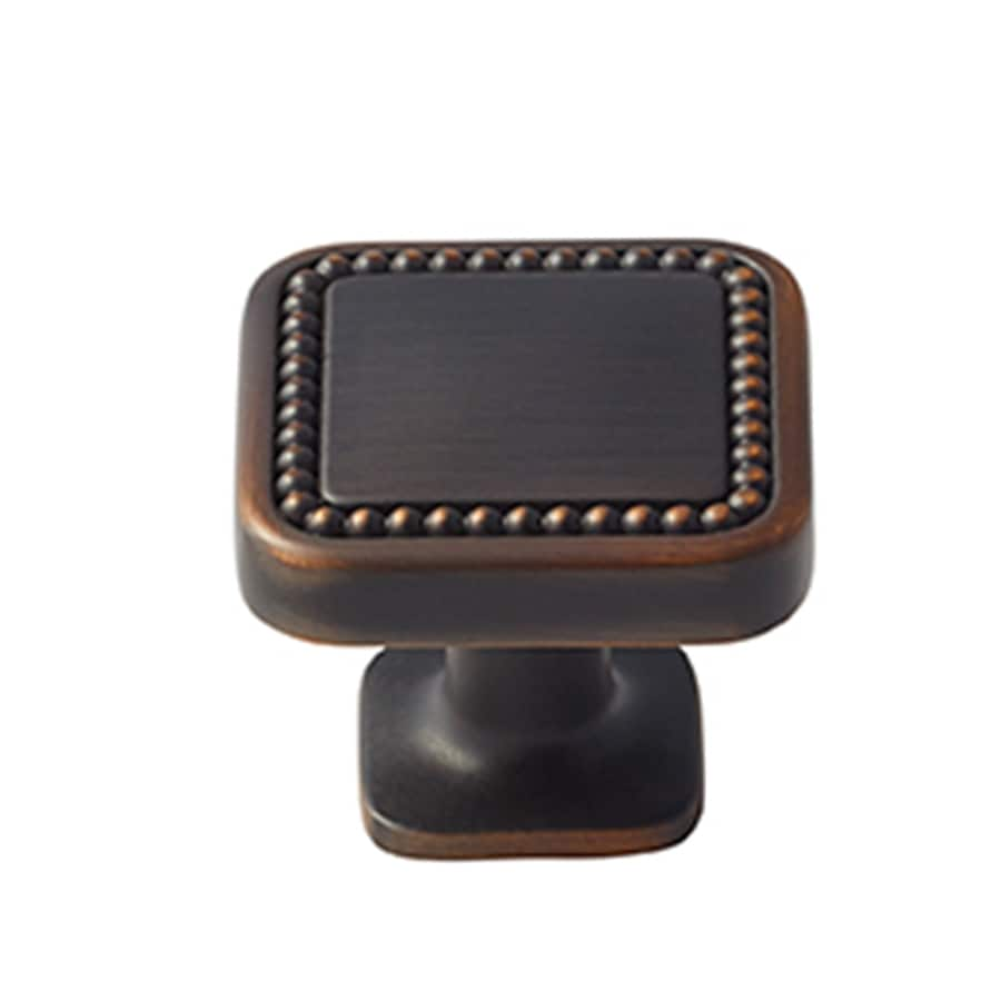 Amerock 25-Pack Carolyne Oil-Rubbed Bronze Square Cabinet Knobs