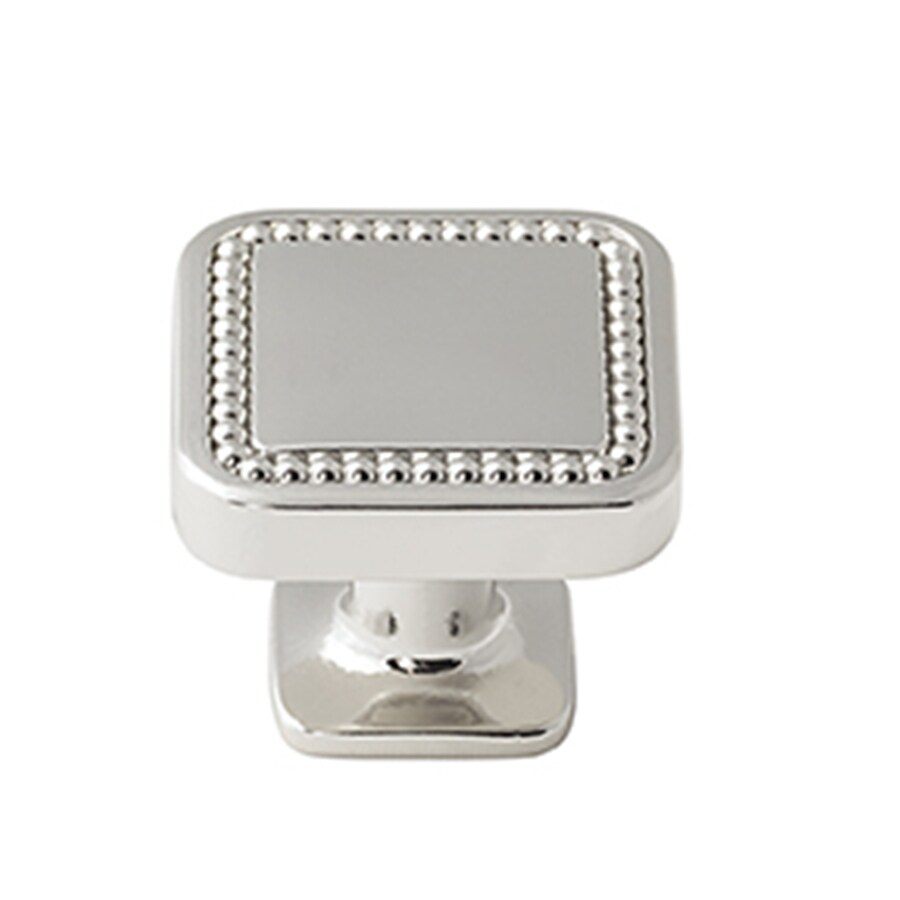 Amerock 25-Pack Carolyne Polished Nickel Square Cabinet Knobs