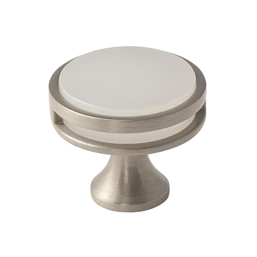 Amerock 25-Pack Oberon Satin Nickel/Frosted Acrylic Round Cabinet Knobs
