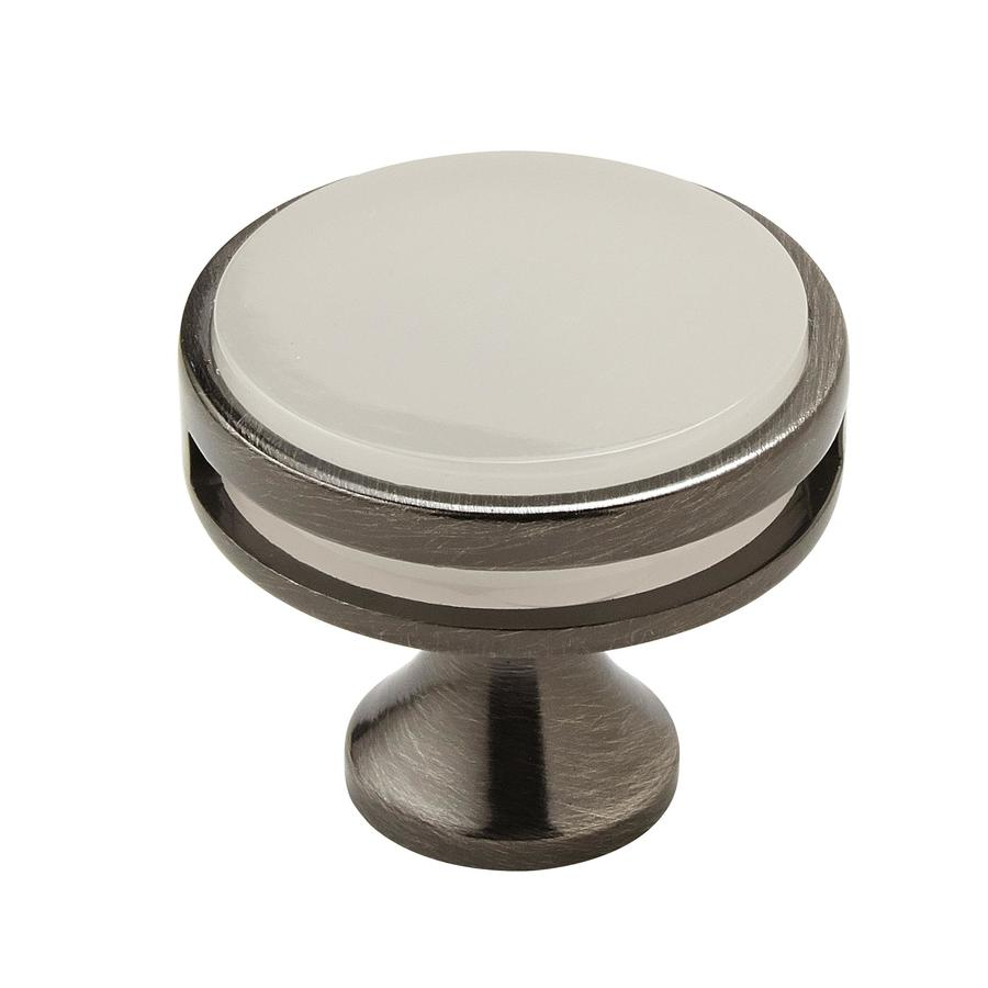 Amerock 25-Pack Oberon Gunmetal/Frosted Acrylic Round Cabinet Knobs