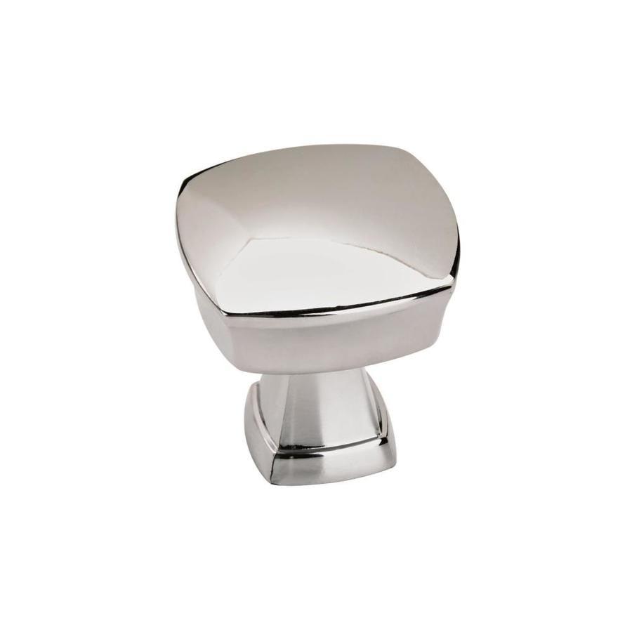 10 Pack Polished Chrome Square Knob Kitchen Cabinet Bathroom Furniture Hardware