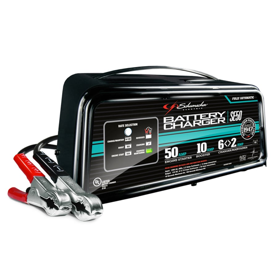 Schumacher Electric 50 Amp 12 Volt Car Battery Charger In The Car Battery Chargers Department At Lowes Com