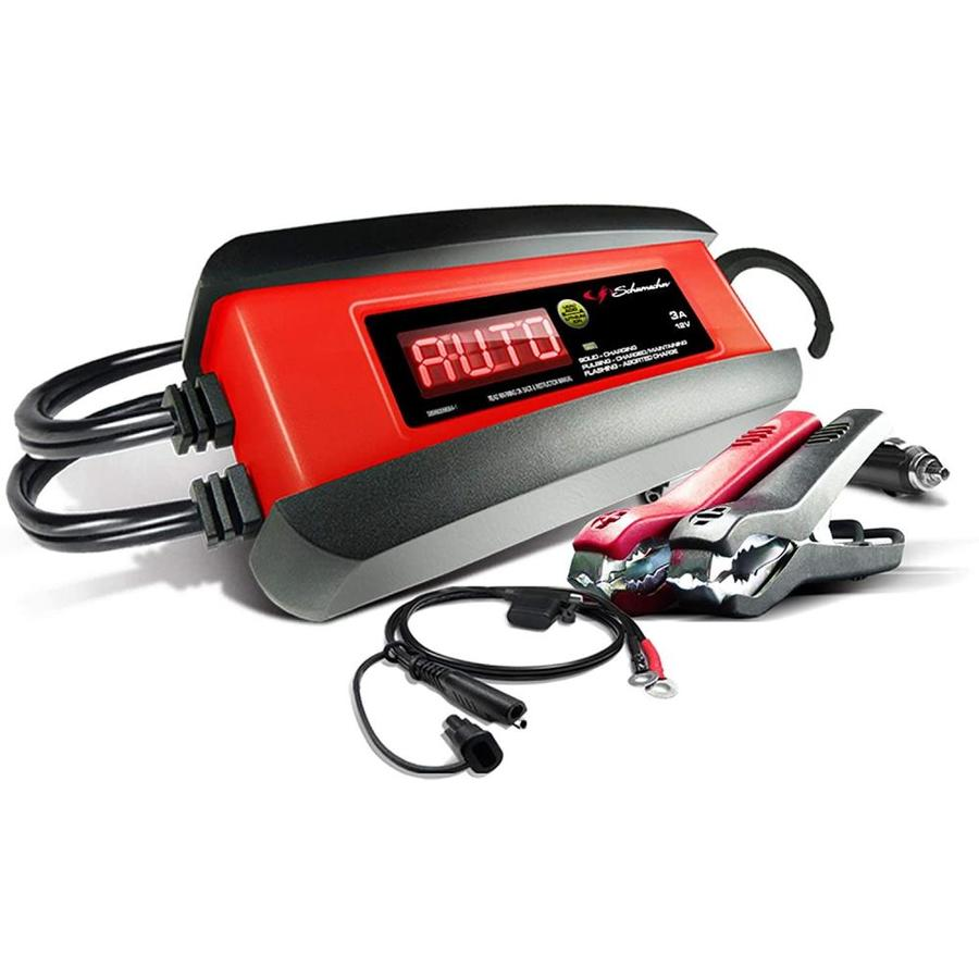 Schumacher Electric 3 Amp 6 12 Volt Car Battery Charger In The Car Battery Chargers Department At Lowes Com