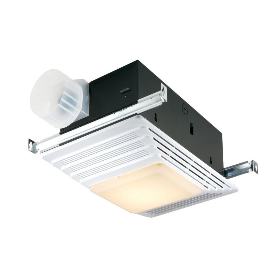 Broan 4-Sone 70-CFM White Bathroom Fan with Integrated Heater and Light