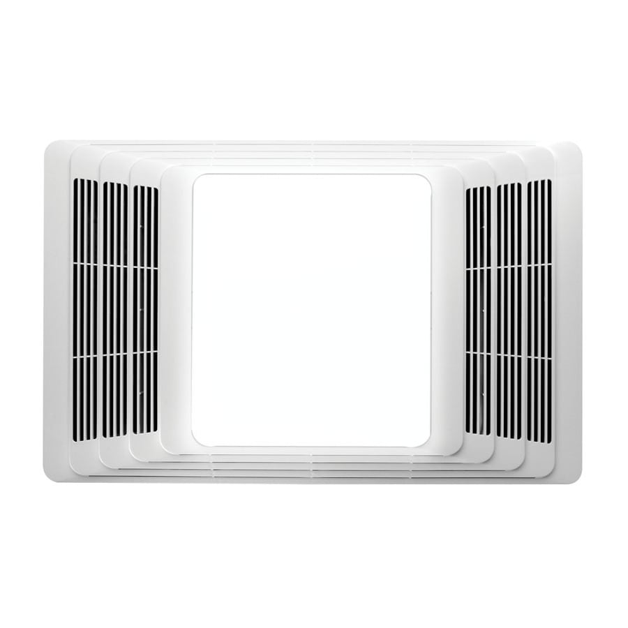 Shop broan 4 sone 70 cfm white bathroom fan with light at for Bathroom exhaust fan lowes