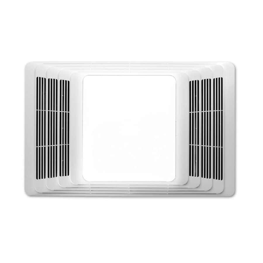 Broan 2.5-Sone 50-CFM White Bathroom Fan with Integrated Heater and Light