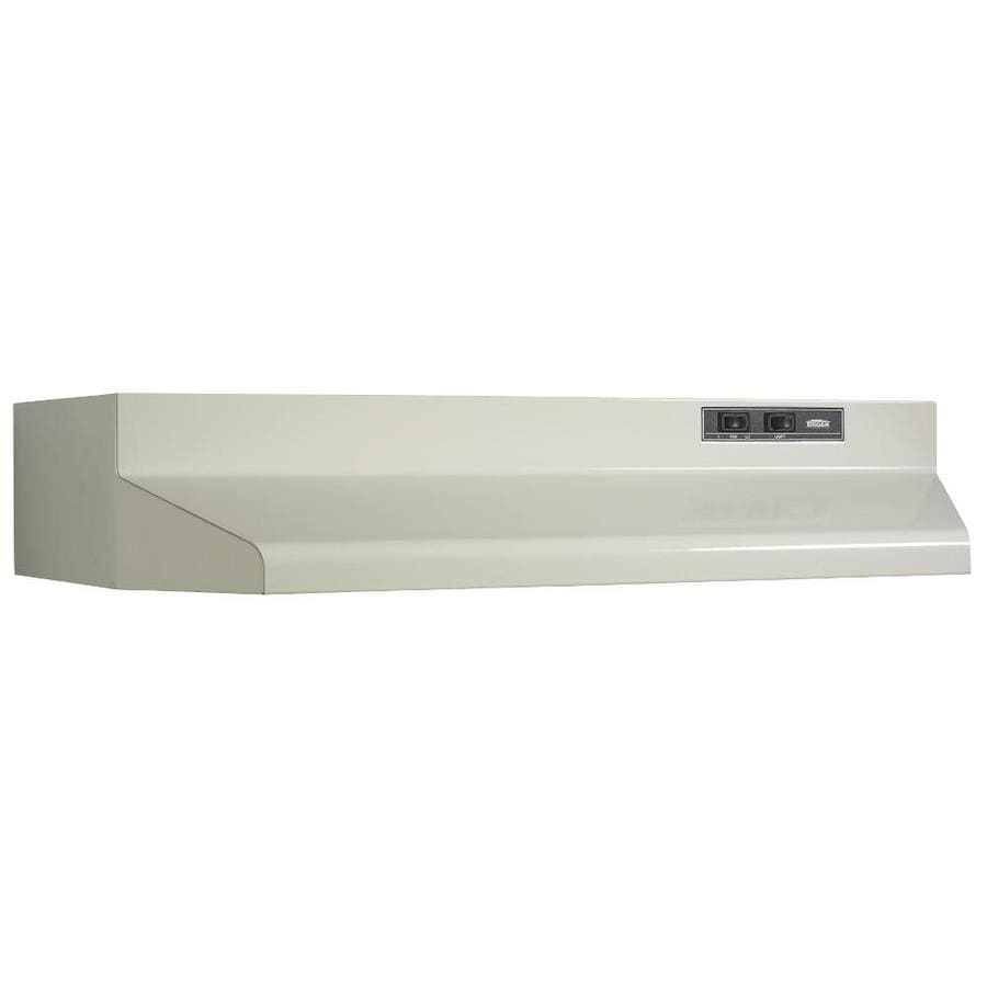 Broan Undercabinet Range Hood (Almond/Black) (Common: 24-in; Actual: 23.87-in)