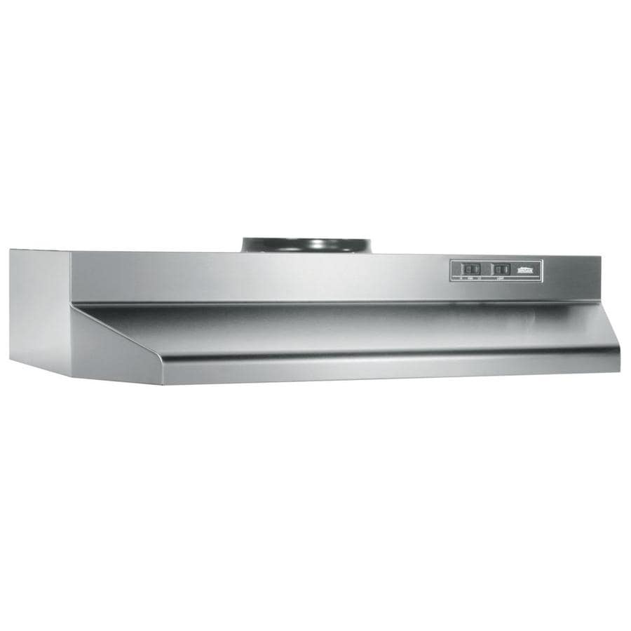 Shop Broan Undercabinet Range Hood (Stainless Steel/Black ...