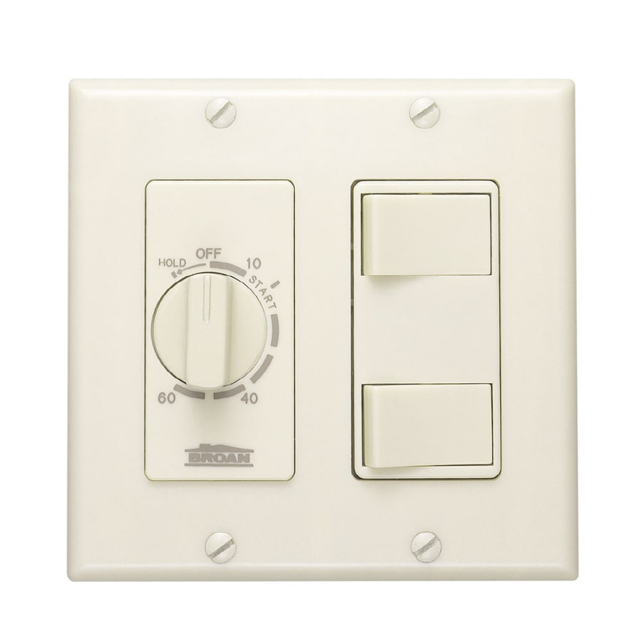 Broan Double Pole Ivory Light Switch