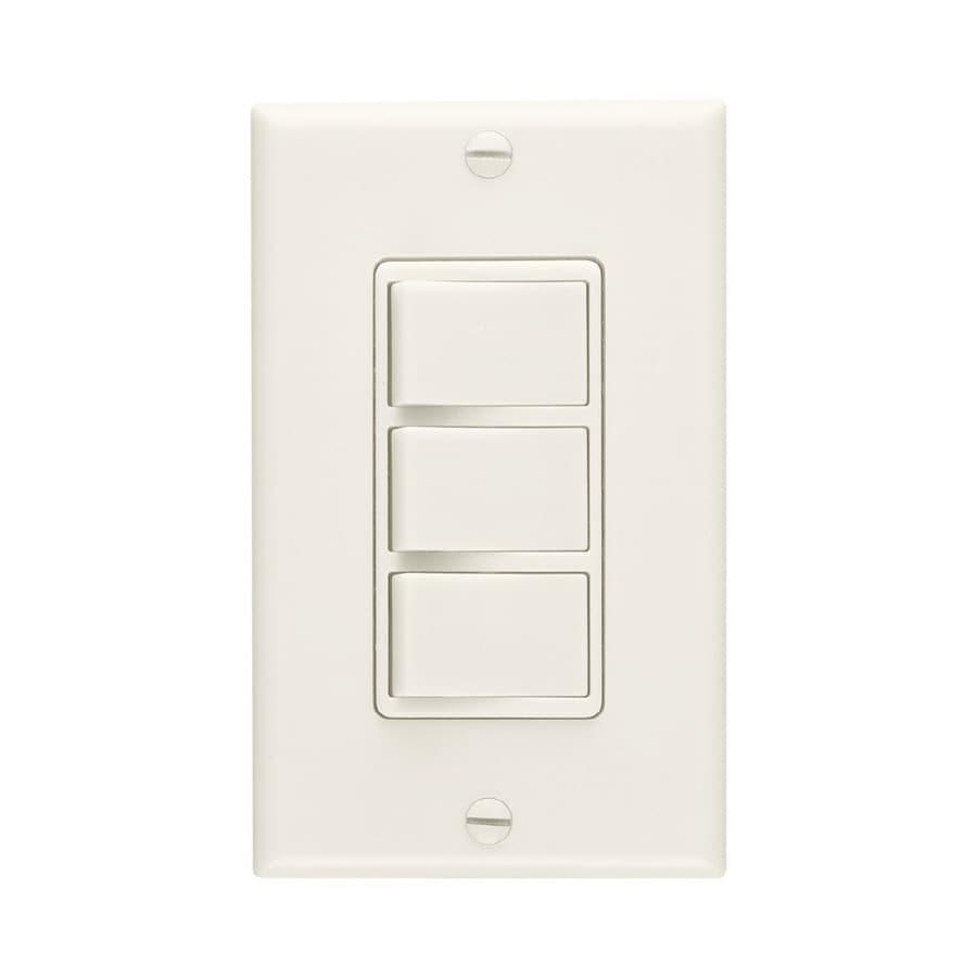 Broan Single Pole Ivory Light Switch