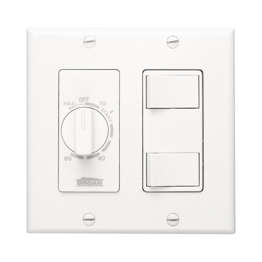 shop broan double pole white light switch at lowes com