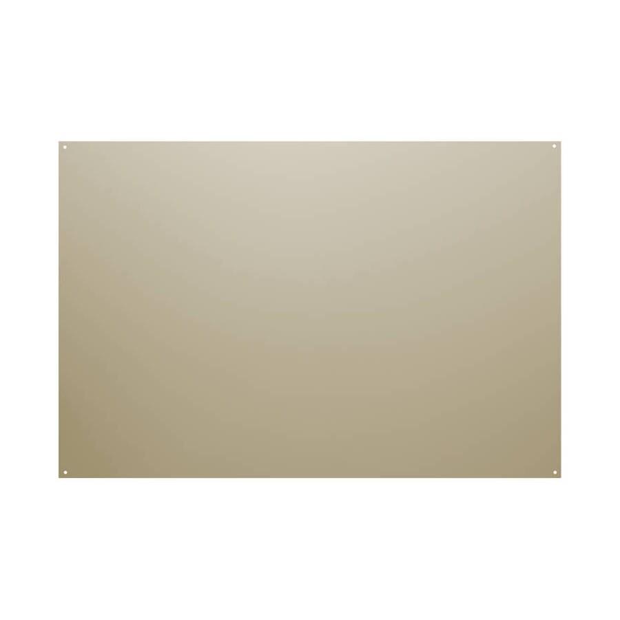 Broan 24-in x 36-in Reversible White/Almond Metal Kitchen Backsplash
