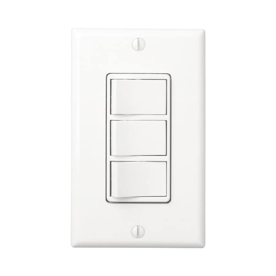 Broan Single Pole White Light Switch