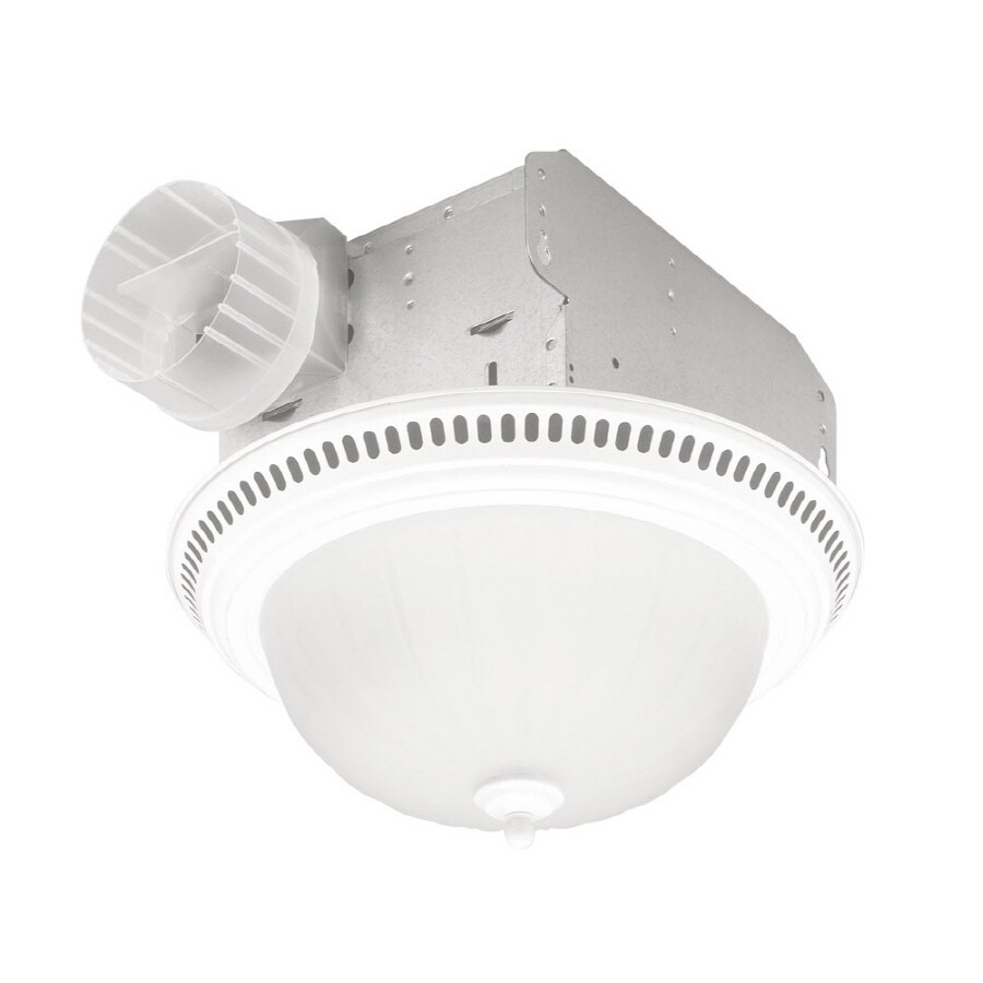 Shop Broan 3 5 Sone 70 Cfm White Bathroom Fan With Light At