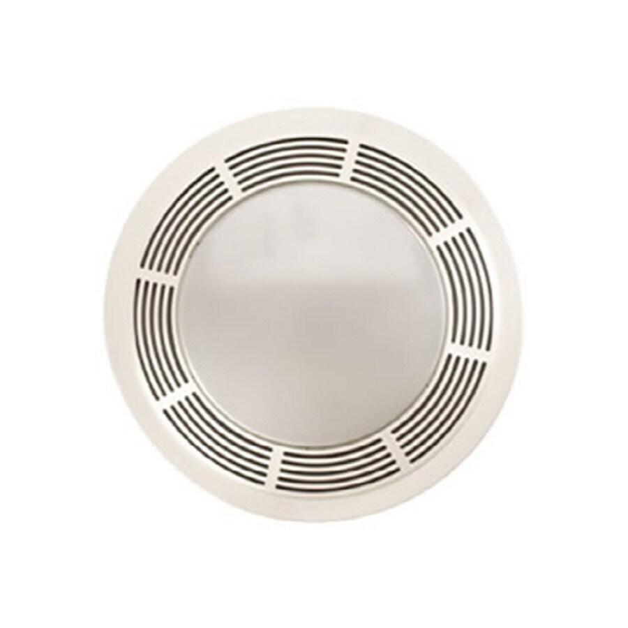 Broan 3.5-Sone 100-CFM White Bathroom Fan with Light
