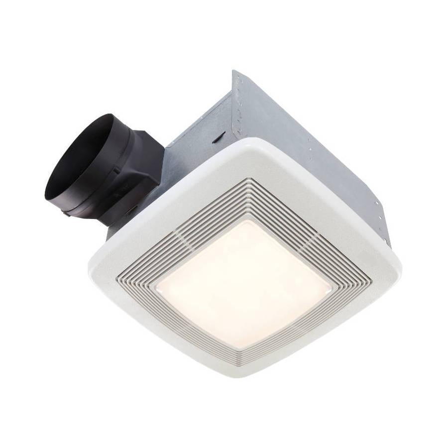 Broan 0.7-Sone 110-CFM White Bathroom Fan with Light ENERGY STAR