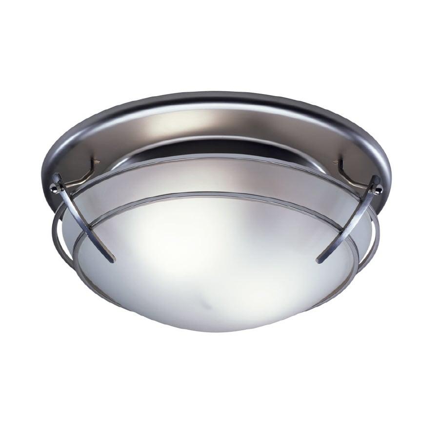 Shop Broan 2 5 Sone 80 Cfm Satin Nickel Bathroom Fan With