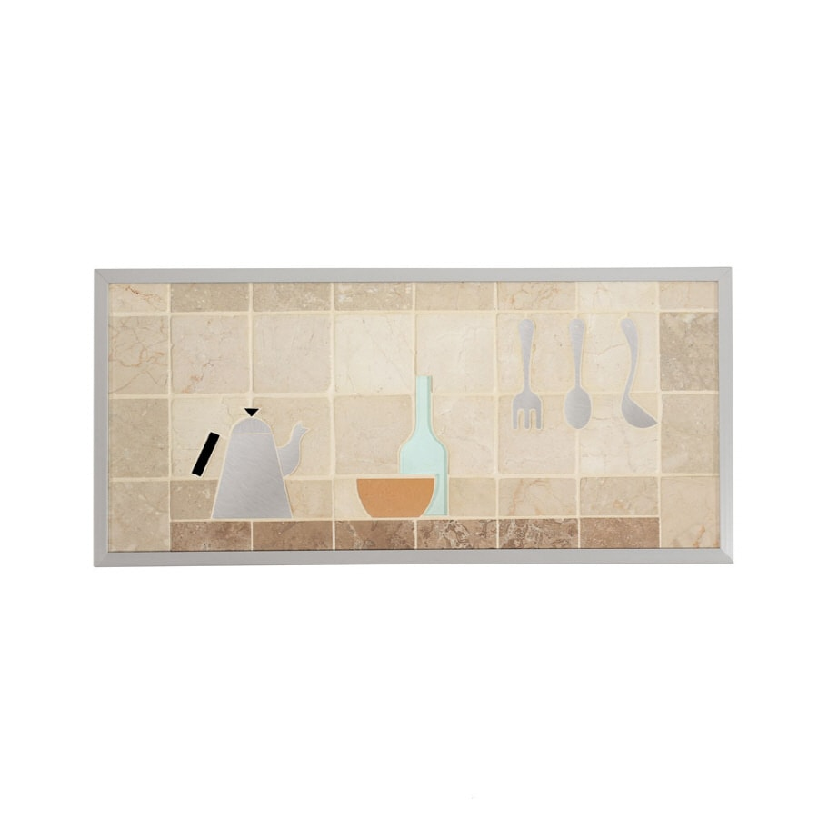 Broan 14-in x 30-in Cream Stone Kitchen Backsplash