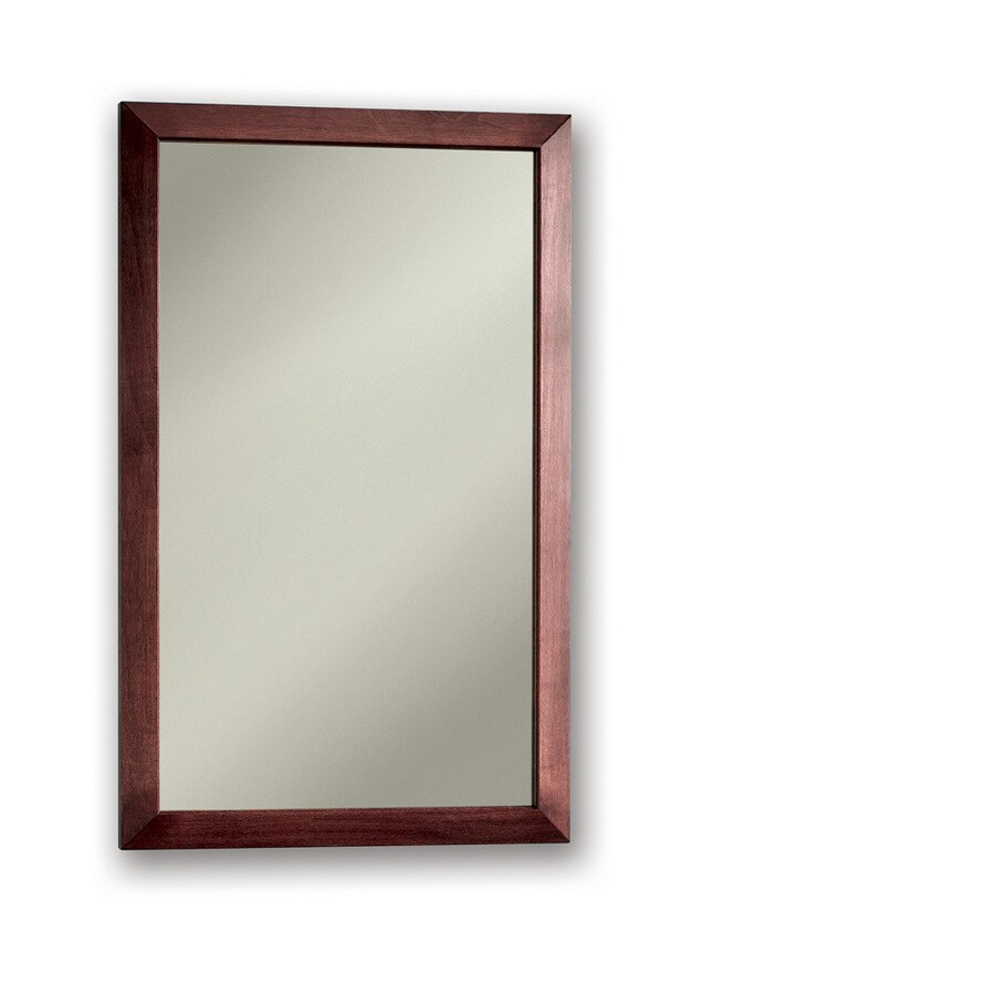 Broan City 16.5-in x 26.5-in Rectangle Surface/Recessed Maple Mirrored Steel Medicine Cabinet
