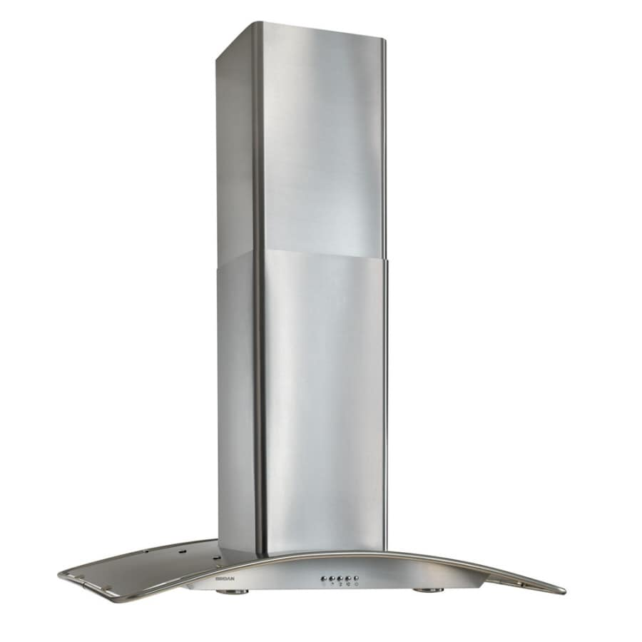 Kitchen Island Range Hoods Lowes U0026 Shop Broan Convertible Island Range Hood  (Stainless Steel