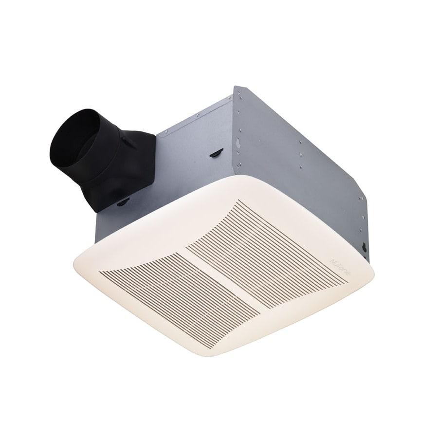 Broan 1.5-Sone 90-CFM White Polymeric Bathroom Fan ENERGY STAR