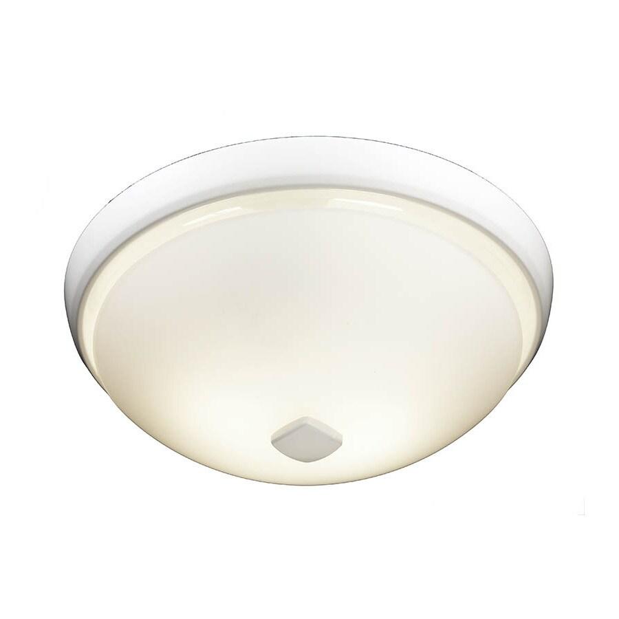 Broan 2-Sone 80-CFM White Bathroom Fan with Light ENERGY STAR