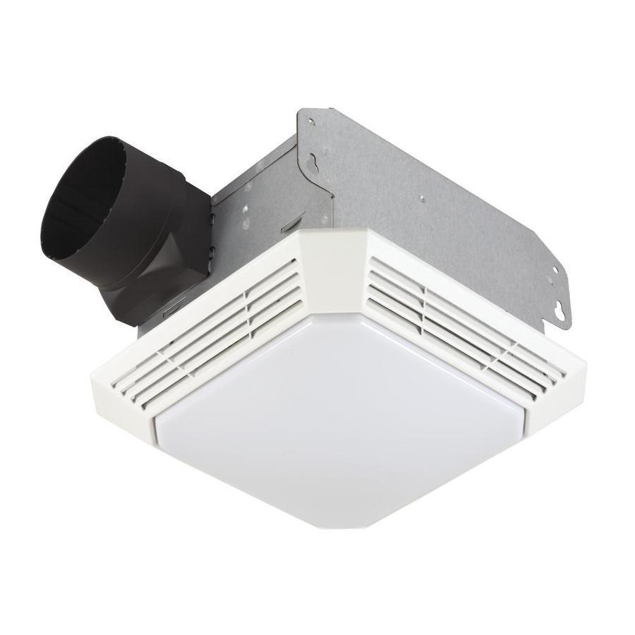 Broan 3.5-Sone 70-CFM White Bathroom Fan with Light