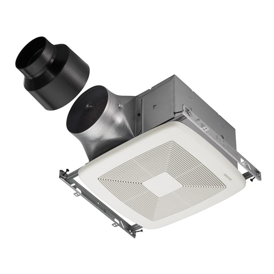 Broan 0.3-Sone 80-CFM White Bathroom Fan ENERGY STAR