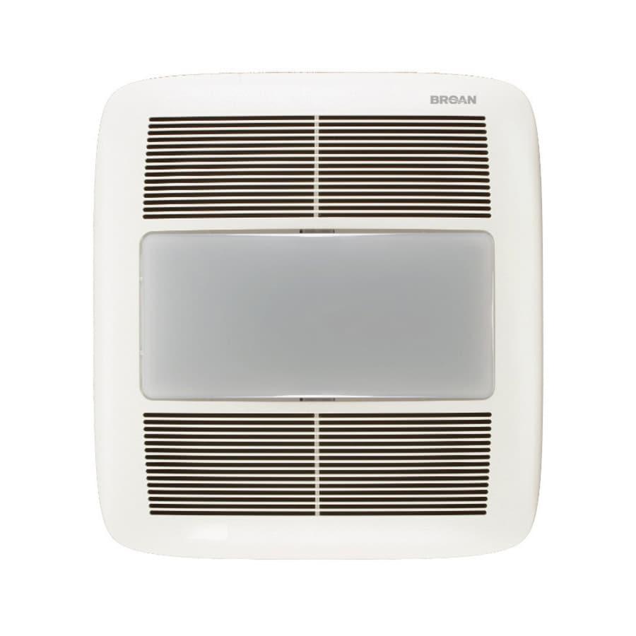 Broan 1.5-Sone 140-CFM White Bathroom Fan with Light ENERGY STAR