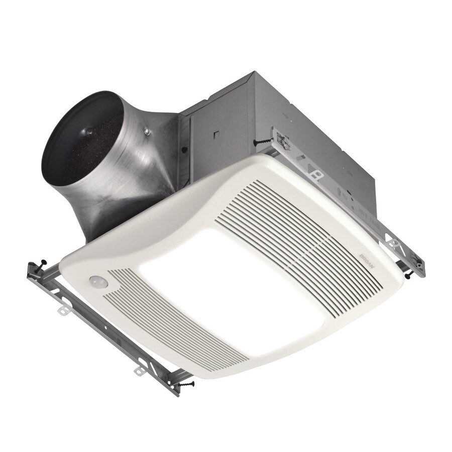Broan 0.3-Sone 80-CFM White Bathroom Fan with Light ENERGY STAR