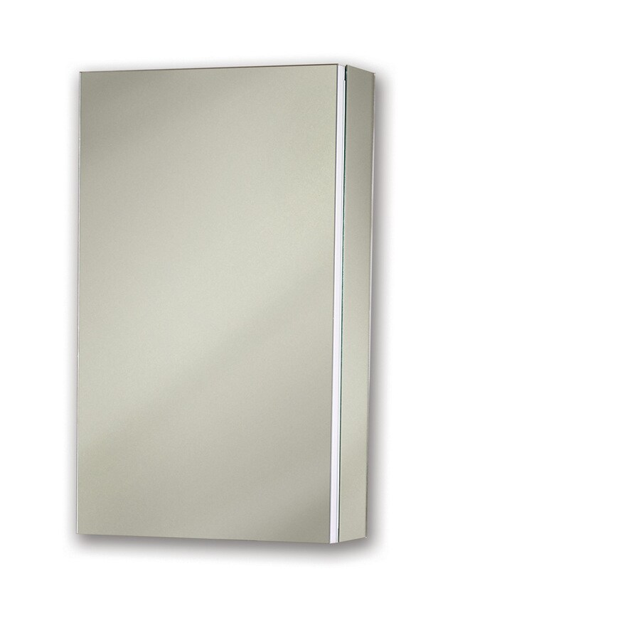 Broan Metro Deluxe 15-in x 25-in Rectangle Surface/Recessed Mirrored Steel Medicine Cabinet