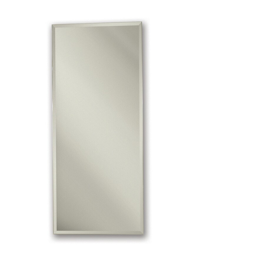 Broan Metro Classic 15-in x 25-in Rectangle Surface/Recessed Mirrored Steel Medicine Cabinet