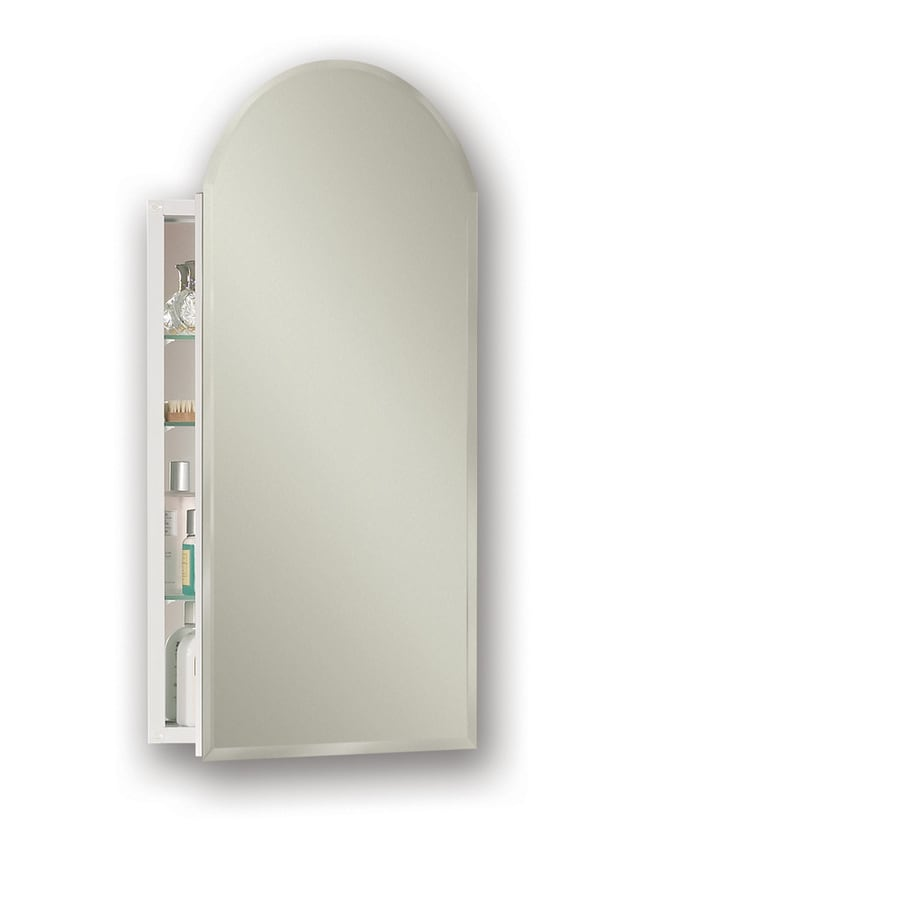 Broan Metro Arch 15-in x 31.25-in Rectangle Surface/Recessed Mirrored Steel Medicine Cabinet
