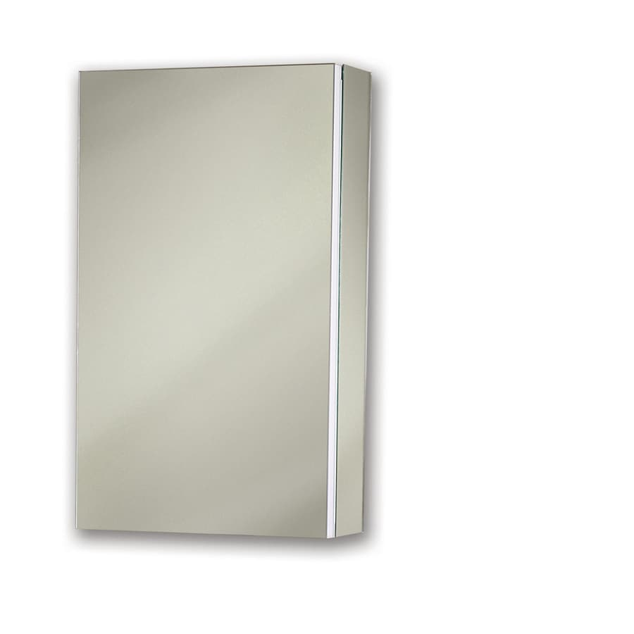Broan Metro Classic 15-in x 35-in Rectangle Surface/Recessed Mirrored Steel Medicine Cabinet