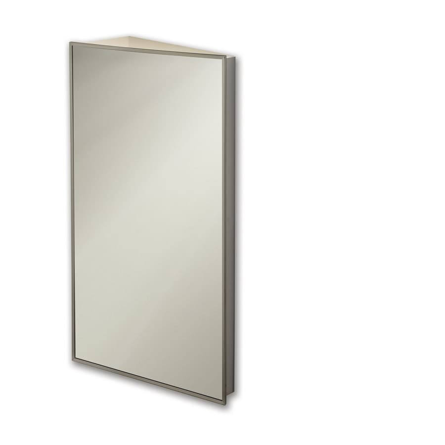 Broan Corner 16-in x 36-in Rectangle Surface Mirrored Steel Medicine Cabinet
