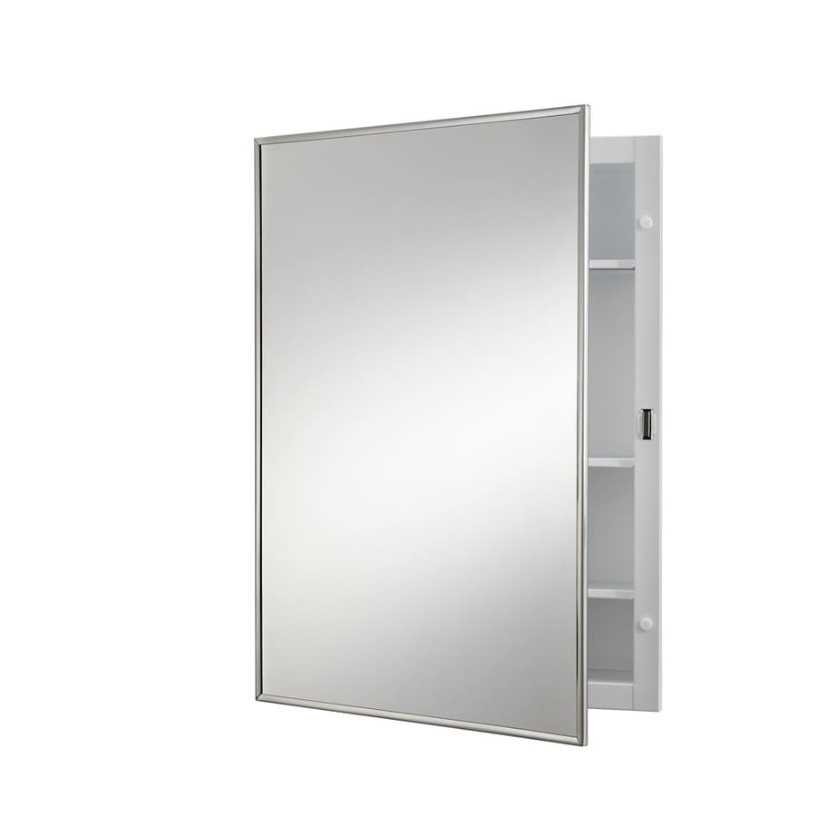 Broan Styleline 18-in x 24-in Rectangle Surface Mirrored Steel Medicine Cabinet