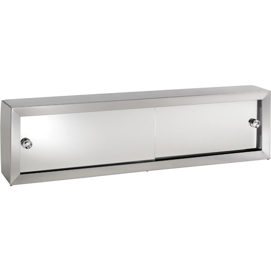 Broan Cosmetic Boxes 30.25-in x 8.75-in Rectangle Surface Mirrored Steel Medicine Cabinet