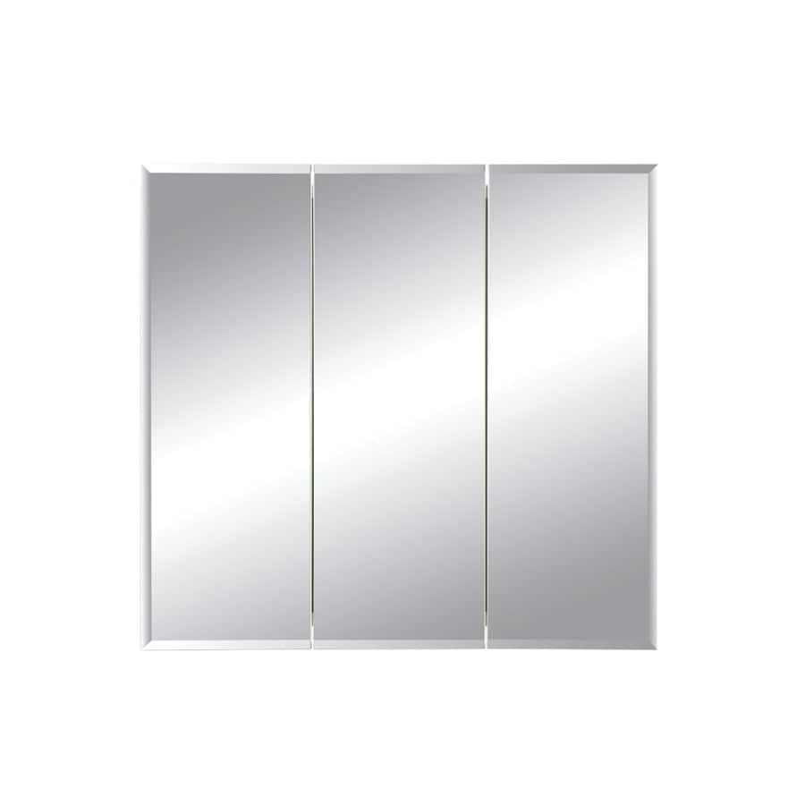 Broan Horizon 36-in x 28.25-in Rectangle Surface Mirrored Steel Medicine Cabinet